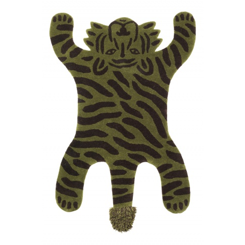 Fotografia, na której jest Dywanik wełniany SAFARI Tygrys - ferm LIVING