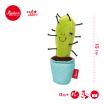Fotografia, na której jest SIGIKID Miękka mini – piszczałka Kaktus w niebieskiej doniczce Red Stars
