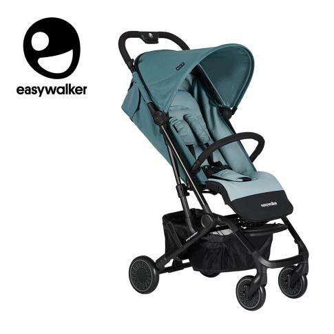 Fotografia, na której jest Easywalker Buggy XS Wózek spacerowy z osłonką przeciwdeszczową Ocean Blue kolekcja 2019