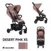 Fotografia, na której jest Easywalker Buggy XS Wózek spacerowy z osłonką przeciwdeszczową Desert Pink kolekcja 2019
