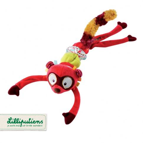 Fotografia, na której jest LILLIPUTIENS Zawieszka wibrująca Lemur George 0 m+