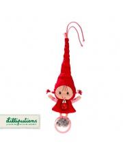 LILLIPUTIENS Mini-grzechotka z dzwoneczkiem Czerwony Kapturek 3 m+