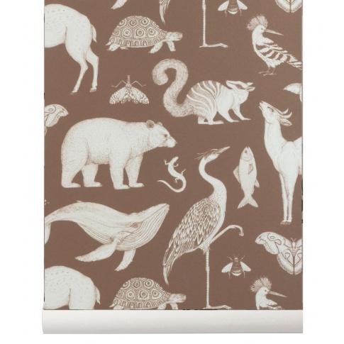 Fotografia, na której jest Tapeta flizelinowa ANIMALS / ZWIERZĘTA -  Katie Scott & ferm LIVING