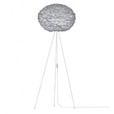 Fotografia, na której jest Lampa podłogowa Eos L szara / podstawa biała - UMAGE