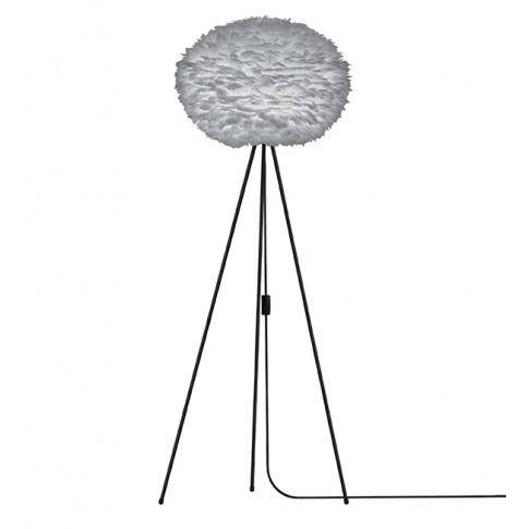 Fotografia, na której jest Lampa podłogowa Eos L szara / podstawa czarna - UMAGE