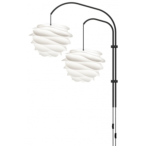 Fotografia, na której jest Lampa ścienna CARMINA Willow Double - UMAGE | pearl white