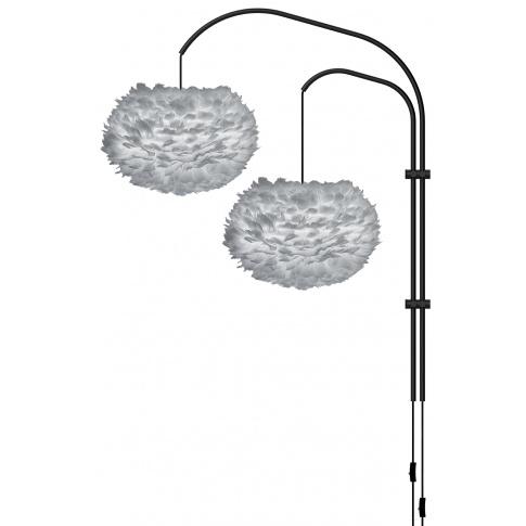 Fotografia, na której jest Lampa ścienna EOS M Willow Double - UMAGE | light grey