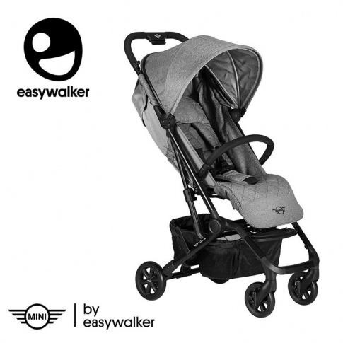 Fotografia, na której jest MINI by Easywalker Buggy XS Wózek spacerowy z osłonką przeciwdeszczową Soho Grey