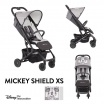 Fotografia, na której jest Disney by Easywalker Buggy XS Wózek spacerowy z osłonką przeciwdeszczową Mickey Shield