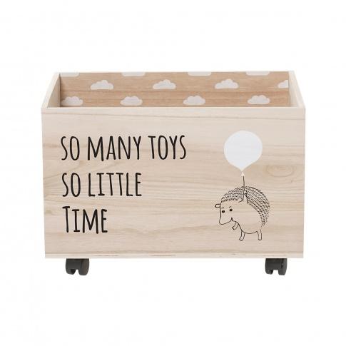 Fotografia, na której jest Pudełko na zabawki z jeżykiem - Bloomingville
