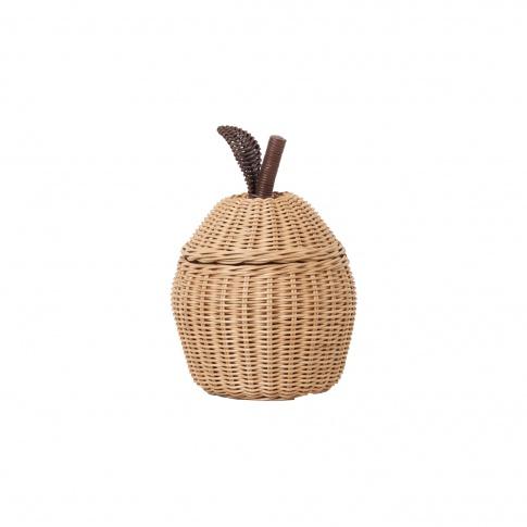 Fotografia, na której jest Kosz pleciony JABŁKO / Apple Basket - ferm LIVING | mały