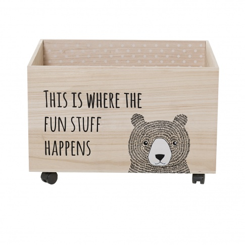 Fotografia, na której jest Pudełko na zabawki z misiem - Bloomingville