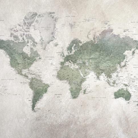 Fotografia, na której jest Fototapeta REBEL WALLS | School Atlas