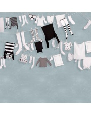 Fototapeta REBEL WALLS | Laundry Day, Blue