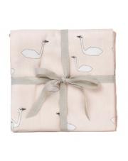 Muślinowe pieluszki Swan różowe 70 x 70 cm - ferm LIVING | 3 szt.
