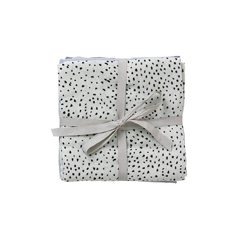 Fotografia, na której jest Muślinowe pieluszki Mint Dot 70 x 70 cm - ferm LIVING | 3 szt.
