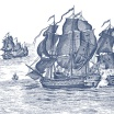 Fotografia, na której jest Fototapeta REBEL WALLS | High Seas, Henderson Blue