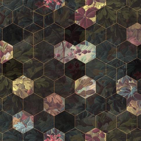 Fotografia, na której jest Fototapeta REBEL WALLS | Vinum Hexagon