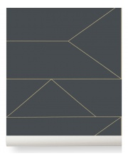 Tapeta skandynawska LINES - ferm LIVING | graphite