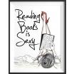 Fotografia, na której jest Plakat Reading books is sexy - kreska
