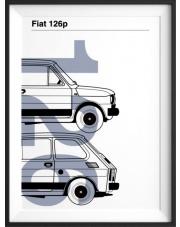 Plakat Fiat 126p - kreska