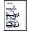 Fotografia, na której jest Plakat Fiat 126p - kreska