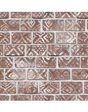 Fototapeta REBEL WALLS | Decorated Bricks, Red