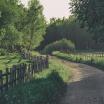 Fotografia, na której jest Fototapeta REBEL WALLS | SCANDINAVIA Wooden Fence