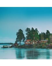 Fototapeta REBEL WALLS | SCANDINAVIA Cottage Island