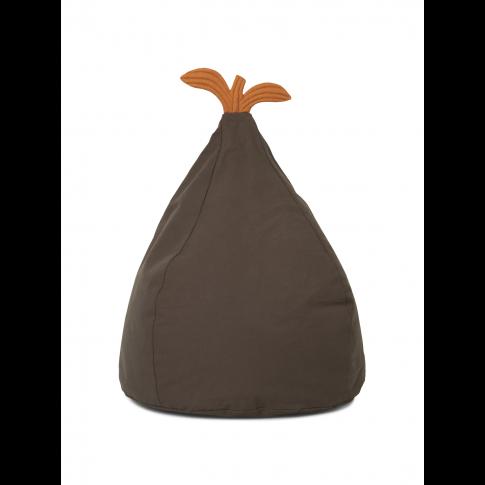 Fotografia, na której jest Puf bawełniany GRUSZKA / Pear Bean Bag - ferm LIVING | zielony