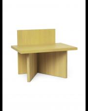 Stołek Oblique - ferm LIVING | żółty