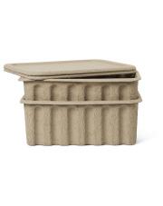 Pudełka z masy papierowej - ferm LIVING | 2 szt. 30 x 40 cm