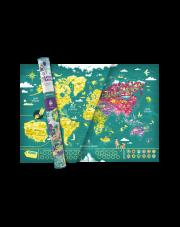 Mapa Zdrapka ŚWIAT MAPITO - mapsy.me