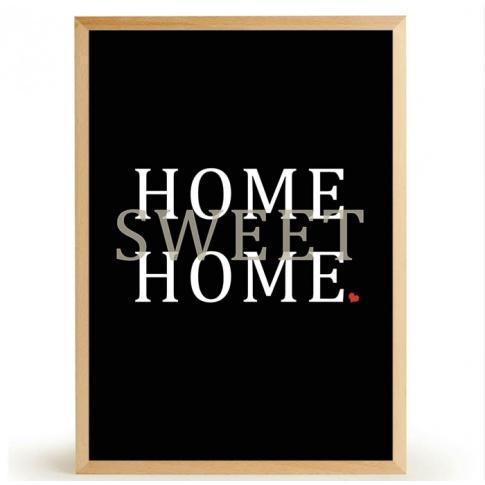 Fotografia, na której jest Plakat HOME SWEET HOME - FOX ART STUDIO