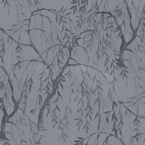 Fotografia, na której jest Fototapeta REBEL WALLS   LA CHINOISERIE Weeping Willows, Still Waters Blue