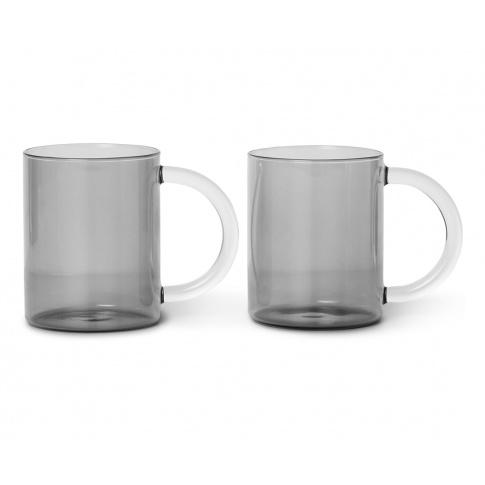 Fotografia, na której jest Szklanki do herbaty / Kubki STILL szare - ferm LIVING | 2 szt.