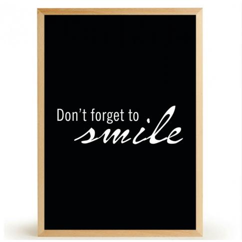 Fotografia, na której jest Plakat SMILE - FOX ART STUDIO