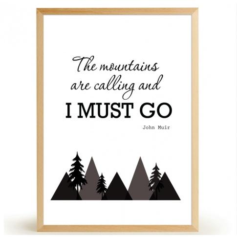 Fotografia, na której jest Plakat MOUNTAINS - FOX ART STUDIO