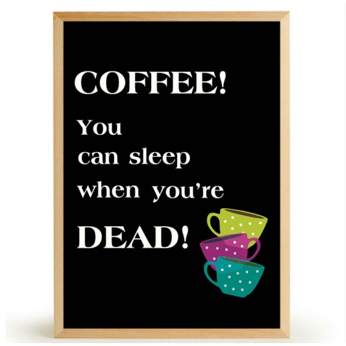 Fotografia, na której jest Plakat COFFEE SLEEP - FOX ART STUDIO