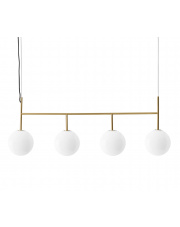 Lampa TR BULB rama 4x - MENU | mosiężna