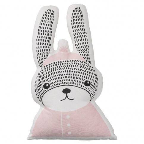 Fotografia, na której jest Poduszka z króliczkiem różowa - Bloomingville