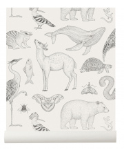 Tapeta zwierzęta ANIMALS off white - ferm LIVING