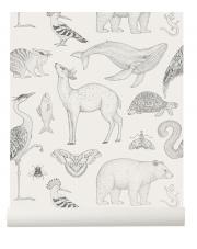 Tapeta zwierzęta ANIMALS off white - ferm LIVING