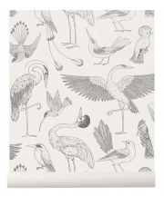 Tapeta ptaki BIRDS off white - ferm LIVING