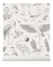 Tapeta ptaki BIRDS off white - ferm LIVING