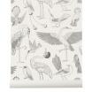 Fotografia, na której jest Tapeta ptaki BIRDS off white - ferm LIVING