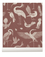 Tapeta ptaki BIRDS dusty red - ferm LIVING