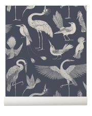 Tapeta ptaki BIRDS granatowa - ferm LIVING