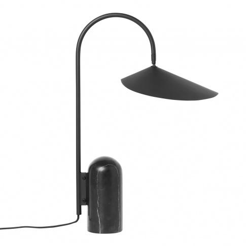 Fotografia, na której jest Lampa stołowa ARUM czarna - ferm LIVING