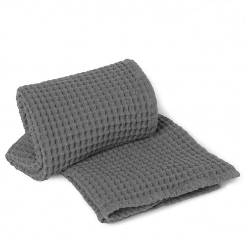 Fotografia, na której jest Ręcznik kąpielowy ferm LIVING | Grey